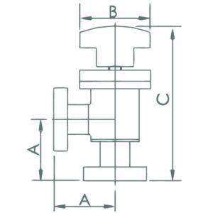 Manual Angle Valve - CF Flange