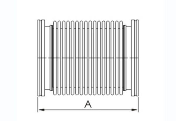 "ISO 63 flexible vacuum tubing SS,4"" long x .007"" wall"