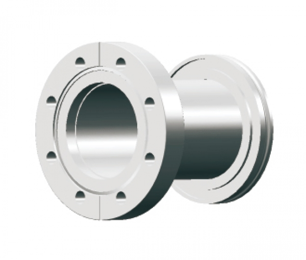 ISO to CF adapter, ISO 63 to CF 4.50 Flange, 304 SS
