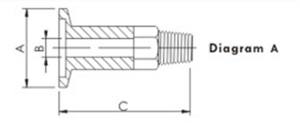 "ADAPTER, 1/8"" MALE NPT, KF (QF) 16, 304 SS"