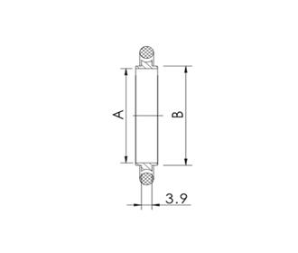 CENTER RING, KF (QF) 10, VITON, ALUMINUM