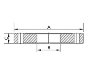 """FLANGE, DOUBLE SIDED, CF 1.33""""-.75"""""""