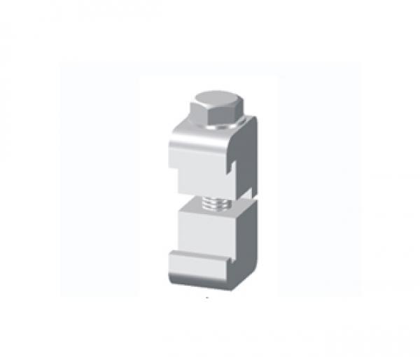 CLAMP, DOUBLE CLAW, ISO 63/100, ALUM., M8 X 45