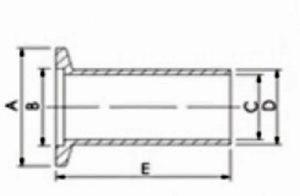 """NIPPLE, HALF, KF (QF) 10, 304 SS, 1.25""""L"""
