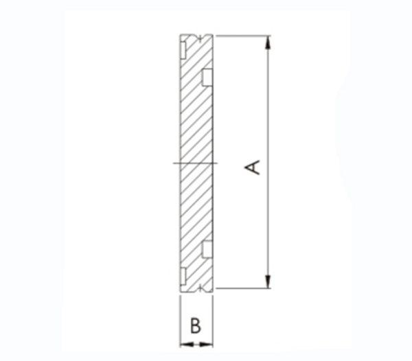 Flange, Vacuum, Blank, LF, ISO 63, 304 SST