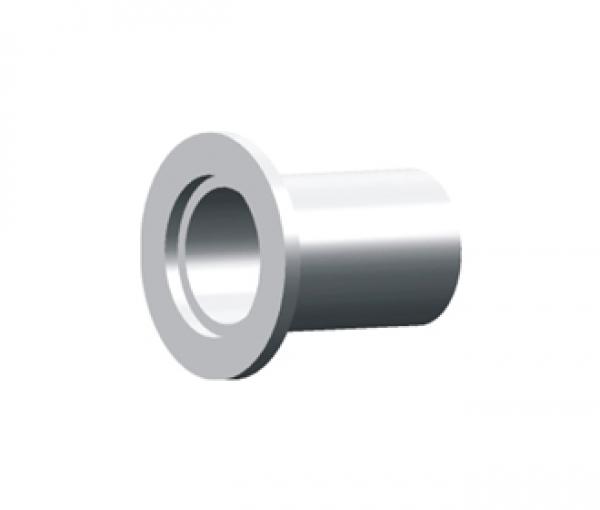 FLANGE, WELD STUB LONG, KF (QF) 10, 304 SS, L 40 mm