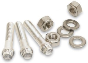 CF Flange Silver-Plated Bolts, CF2.75, 1/4-28x1.25, 12-pt hd