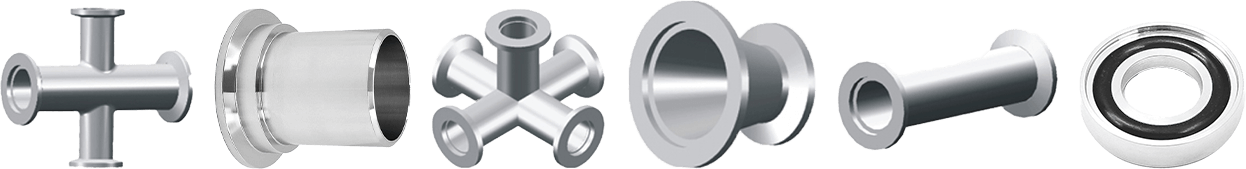 Vacuum Components - 6 KF Flanges and Fittings Parts