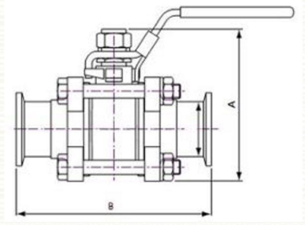 Low cost ball valve diagram
